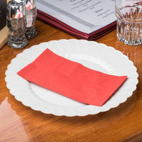 Red Paper Dinner Napkin, Choice 2-Ply, 15 inch x 17 inch - 125/Pack