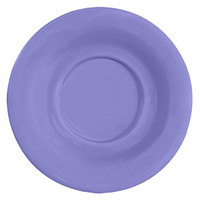 GET SU-3-PB Diamond Mardi Gras 5 1/2 inch Peacock Blue Melamine Saucer for GET B-105, BC-70, BC-170, B-454, and C-107 Bowls and Mugs - 48 / Case