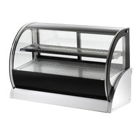 Vollrath 40854 60 inch Curved Glass Refrigerated Countertop Display Cabinet