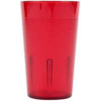 Cambro 500P156 Colorware 5.2 oz. Ruby Red Plastic Tumbler - 72/Case