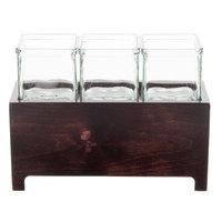 Cal-Mil 1549-6-52 Westport Three Jar Wooden Display - 12 1/2 inch x 4 3/4 inch x 6 inch