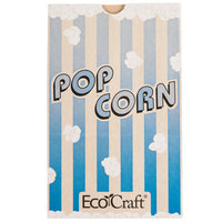 Bagcraft Papercon 300612 5 1/2 inch x 3 1/4 inch x 8 5/8 inch 85 oz. EcoCraft Popcorn Bag - 500/Case