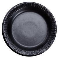 Dart Solo 6PBQR Quiet Classic 6 inch Black Laminated Round Foam Plate - 1000 / Case