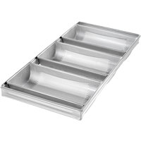 Chicago Metallic 44405 Glazed 2 lb. 3-Strap Hearth Bread Pan - 11 1/2 inch x 6 inch x 2 1/2 inch