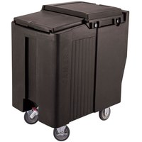 Cambro ICS125T110 Black Sliding Lid Portable Ice Bin - 125 lb. Capacity Tall Model