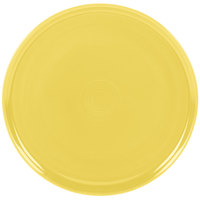 Homer Laughlin 575320 Fiesta Sunflower 12 inch China Pizza / Baking Tray - 4/Case