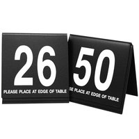 Cal-Mil 234-1-13 Black/White Double-Sided Number Tents 26-50 - 3 1/2 inch x 3 inch