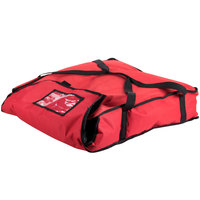 San Jamar PB25 26 inch x 25 inch x 6 inch Insulated Red Nylon Pizza Delivery Bag