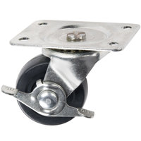 2 1/2 inch Swivel Dipping Cabinet Plate Caster with Brake