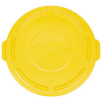 Rubbermaid FG263100YEL BRUTE Yellow 32 Gallon Trash Can Lid