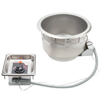 APW Wyott SM-50-11D UL 11 Qt. Round Drop In Soup Well with Drain - 208/240V