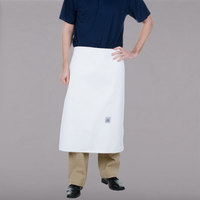 Chef Revival A005 30 inch x 28 inch Customizable 4-Sided White Chef Bistro Apron