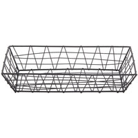 American Metalcraft ROB2613 Black Zorro Rectangular Basket - 13 inch x 6 inch x 2 1/2 inch