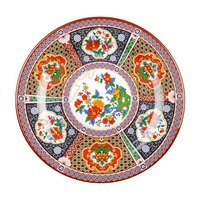 Thunder Group 1007TP Peacock 6 7/8 inch Round Melamine Plate - 12/Pack