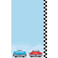 8 1/2 inch x 11 inch Menu Paper - Retro Themed Car Design Right Insert - 100/Pack