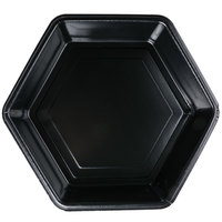 Genpak HX010-3L Smart-Set 10 5/16 inch Black Hexagonal Foam Serving Tray - 200/Case