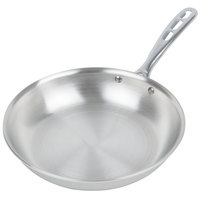 Vollrath 67110 Wear-Ever 10 inch Natural Finish Aluminum Fry Pan with TriVent Chrome Plated Handle