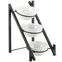 Cal-Mil 1137-8-13 Black One By One 3-Tiered Bowl Display Frame - 11 3/4 inch x 15 3/4 inch x 18 1/2 inch