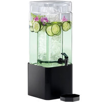 Cal-Mil 1112-1A-13 1.5 Gallon Mission Square Acrylic Beverage Dispenser with Black Metal Base
