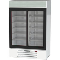 Beverage-Air LV45HC-1-W LumaVue 52 inch White Refrigerated Glass Door Merchandiser with LED Lighting