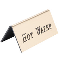 Cal-Mil 228-3-11 Gold Hot Water Beverage Tent - 3 inch x 1 inch x 1 1/2 inch
