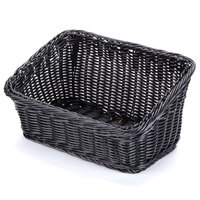 GET WB-1510-BK Designer Polyweave Plastic Cascading Basket - Black 9 1/4 inch x 13 inch - 6/Pack