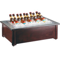 Cal-Mil 412-18-52 Westport Dark Wood Ice Housing with Clear Pan - 26 inch x 18 inch x 8 inch