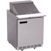 Delfield 4427N-9M 27 inch 1 Door Mega Top Refrigerated Sandwich Prep Table