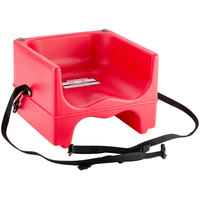 Cambro 200BCS158 Plastic Booster Seat - Dual Seat with Strap - Hot Red