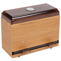 Vollrath 3825-29 Straw Boss Single Sided Bulk Unwrapped Straw Dispenser - Light Oak Woodgrain