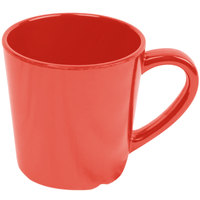 Thunder Group CR9018RD Smooth Melamine 7 oz. Orange Mug - 12/Case