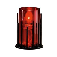 Sterno Products 85306 Table Lamp Red Cylinder Globe