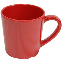 Smooth Melamine 7 oz. Pure Red Mug - 3 1/8 inch 12 / Pack