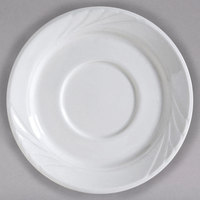 Tuxton YPE-054 Sonoma 5 1/2 inch Bright White Embossed Rim China Saucer - 36/Case