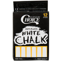 Choice White Chalk   - 12/Pack