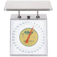 Edlund FMD-2 Deluxe Four Star 32 oz. Portion Scale with Oversized 7 inch x 8 3/4 inch Platform