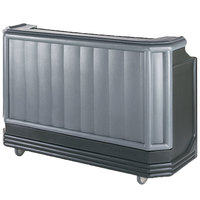 Cambro BAR730PMT420 Granite Gray and Black Cambar 73 inch Post-Mix Portable Bar with 7 Bottle Speed Rail, Cold Plate, Soda Gun, and Water Tank