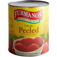 Furmano's #10 Can Choice Whole Peeled Tomatoes in Juice   - 6/Case