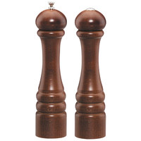 Chef Specialties 10100 Professional Series 10 inch Customizable Imperial Walnut Finish Pepper Mill and Salt Shaker