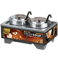Vollrath 720202002 Full Size Soup Merchandiser Base with 7 qt. Accessory Pack and Tuscan Graphics - 120V, 1000W