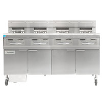 Frymaster FPGL430-2LCA Liquid Propane Floor Fryer with Three Full Right Frypots / One Left Split Pot and Automatic Top Off - 300,000 BTU