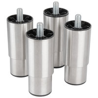 Manitowoc K-00350 6 inch Adjustable Stainless Steel Bin Legs - 4/Set