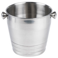 8 1/4 inch Heavy Weight Stainless Steel Wine / Champagne Bucket - 4 Qt.