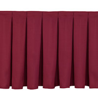National Public Seating SB24-96 Burgundy Box Stage Skirt for 24 inch Stage - 96 inch Long