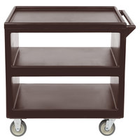 Cambro BC235131 Dark Brown Three Shelf Service Cart - 37 1/4 inch x 21 1/2 inch x 34 5/4 inch