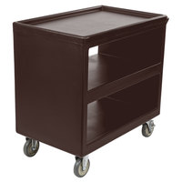 Cambro BC235131 Dark Brown Three Shelf Service Cart - 37 1/4 inch x 21 1/2 inch x 34 5/4 inch