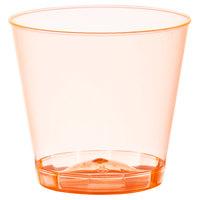 Fineline Quenchers 401-ORG 1 oz. Neon Orange Hard Plastic Shot Cup - 50/Pack