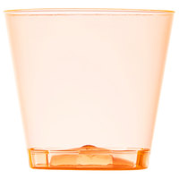 Fineline Quenchers 401-ORG 1 oz. Neon Orange Hard Plastic Shot Cup - 50/Pack