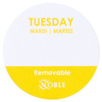Noble Products Tuesday 1 inch Removable Day of the Week Dot Label - 1000 / Roll