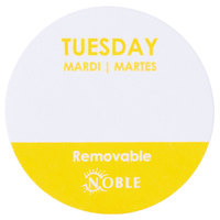 Noble Products Tuesday 1 inch Removable Day of the Week Label   - 1000/Roll